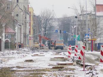 TAURON blokuje Jagiellońską - remont się wydłuża
