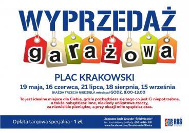 Wyprzedaż garażowa na placu Krakowskim