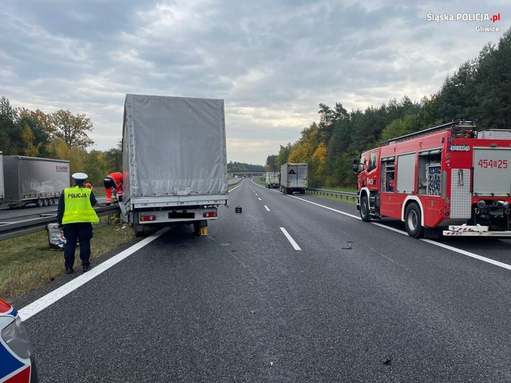 Wypadek na 293. kilometrze autostrady A4